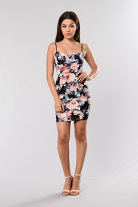 Your Kisses On My Lips Dress - Navy