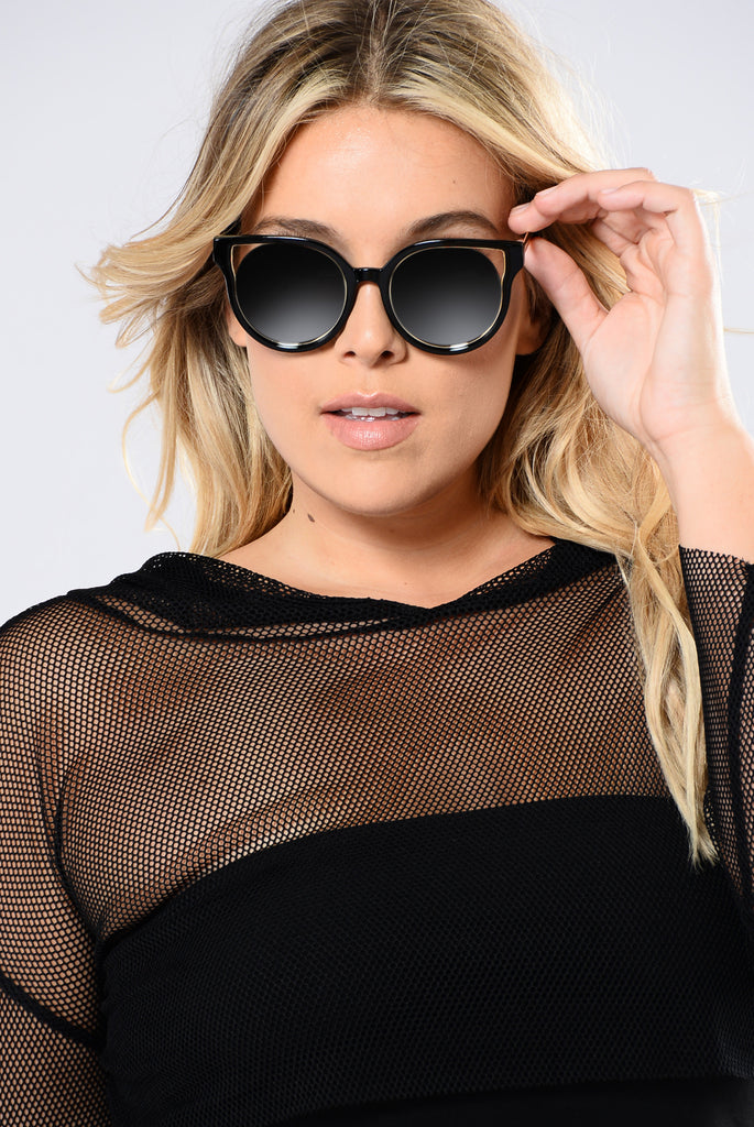 Ariella Sunglasses - Black/Silver