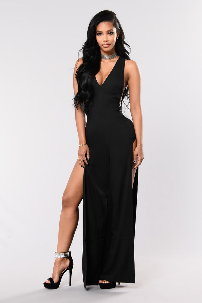 Put A Ring Jumpsuit - Black