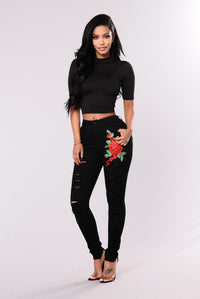 How It Begun Jeans - Black/Red