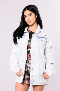 Always Up To Something Denim Jacket - Light Wash