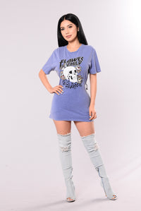 Tie Me Up Tunic - Blue