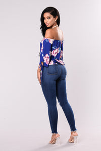 Ana Sofia Top - Royal Blue