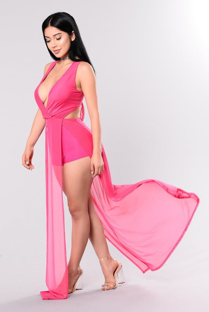 Allied Dress - Fuschia