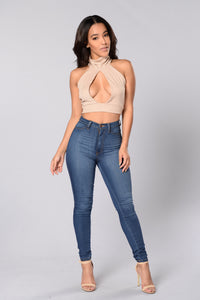 Marissa Crop Top - Taupe