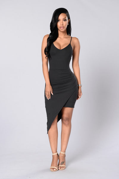 Girls Just Wanna Have Fun Dress - Black