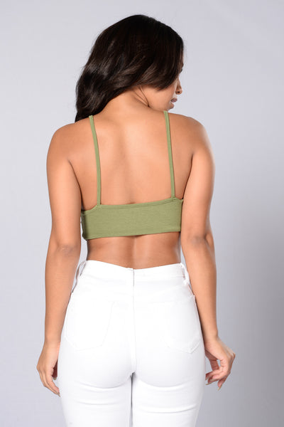 Friend Zoned Bodysuit - Olive