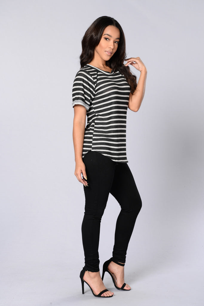 Stripes Tee - Black/Grey