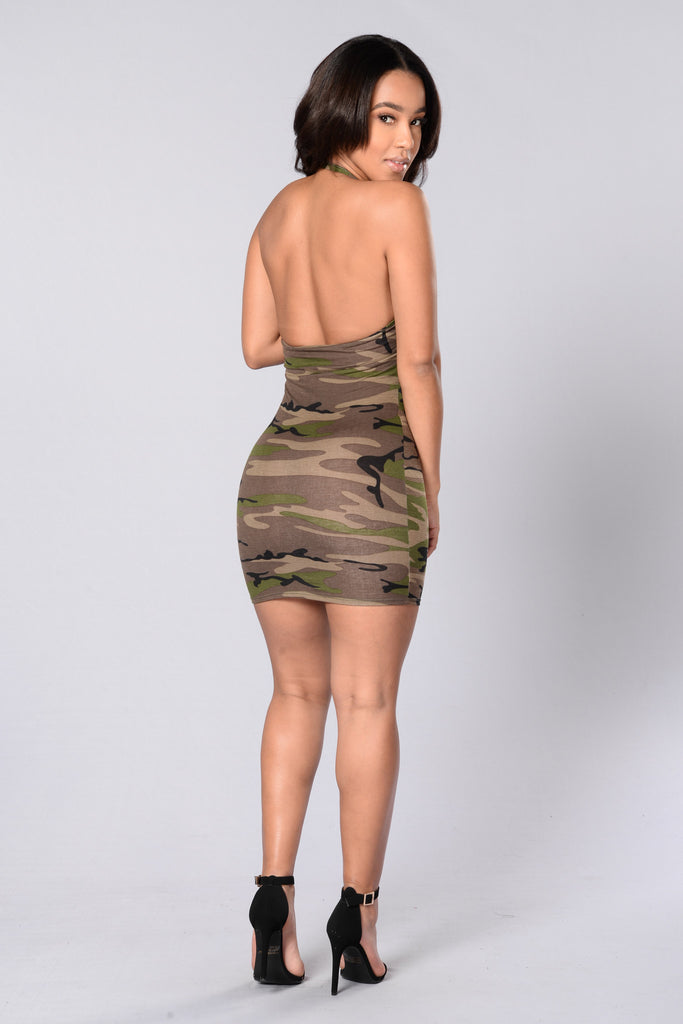 Hidden Gem Dress - Camo