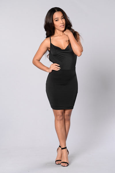 Blame it on the Night Dress - Black