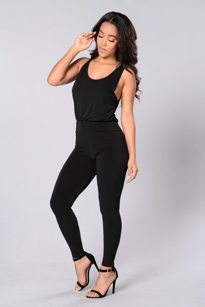 Power Player Jumpsuit - Black