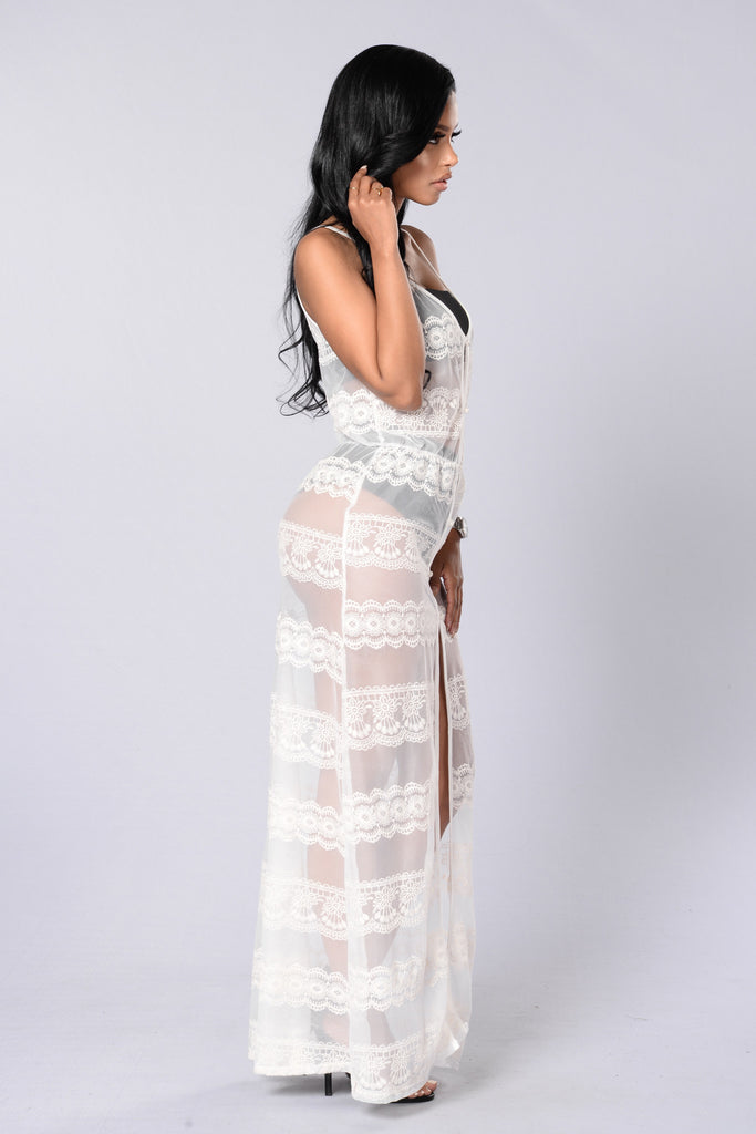 Through it All Maxi Dress - Natural
