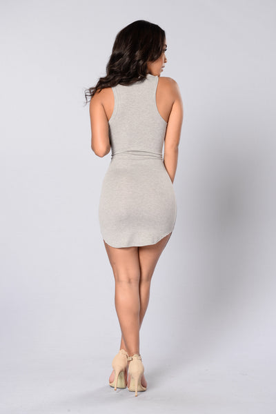 Amber Dress - Heather Grey