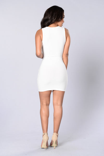 Got Me in Chains Dress - White
