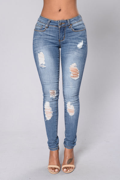 Holy Moly Jean - Medium Blue