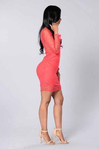 Show Me Love Dress - Coral