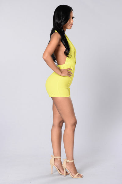 It's Showtime Romper - Yellow