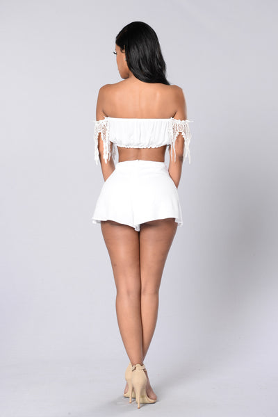 Santa Monica Pier Shorts - White