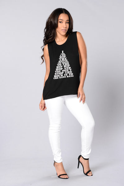 Hip Hop Tank Top - Black