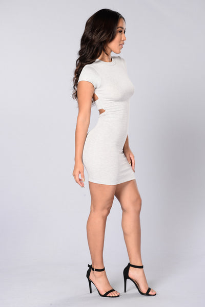 Friend Zoned Dress - Heather Grey