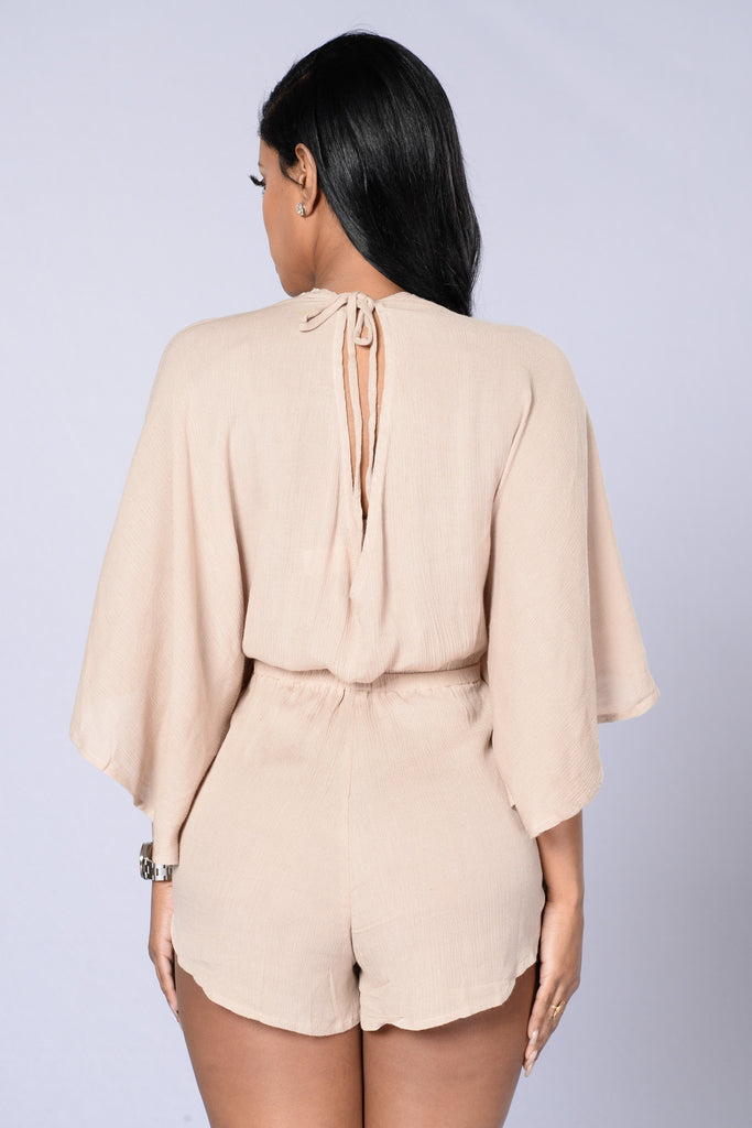Beach Vibes Romper - Taupe