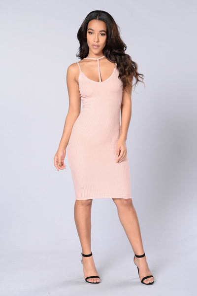 Sweet Surrender Dress - Dusty Pink