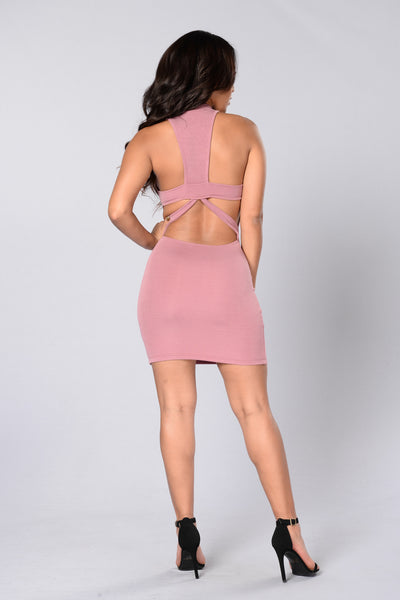 Karma Bites Back Dress - Mauve