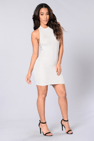 Karma Bites Back Dress - Grey