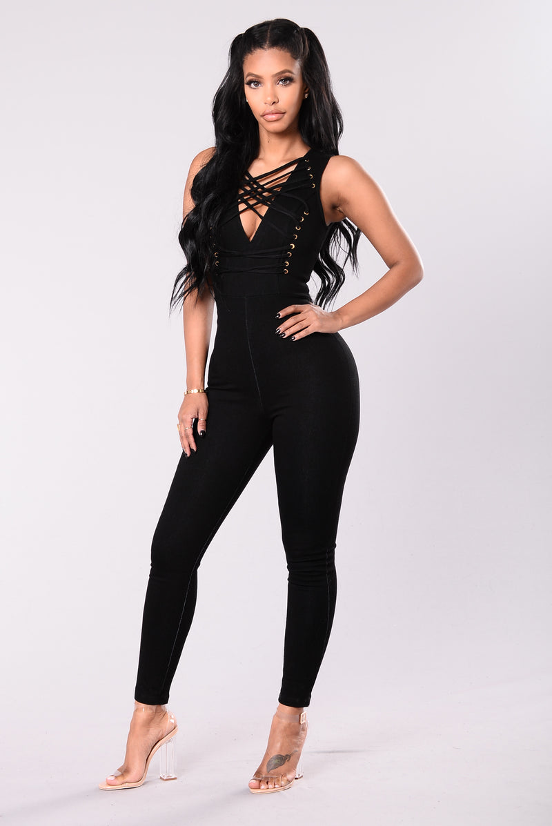 Power Jumpsuit - Black Denim