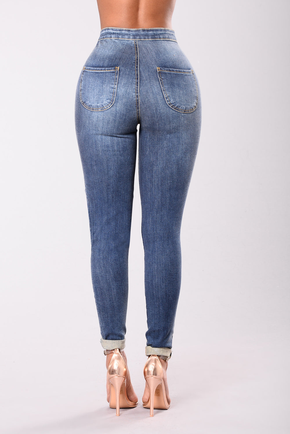 Figure Me Out Jeans - Dark Stone Wash