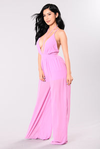 Meet Me Off Sunset Jumpsuit - Orchid