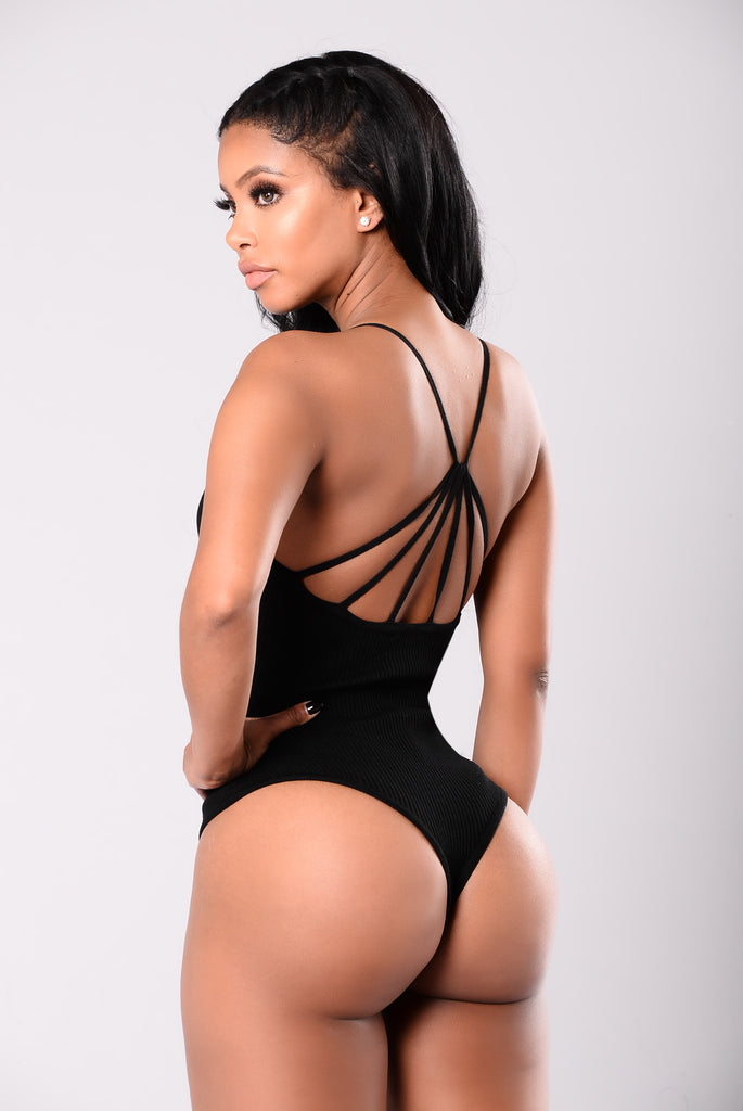 Feeling Deep Inside Bodysuit - Black
