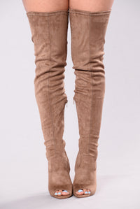 Looking For Fun Over The Knee Boot - Mocha