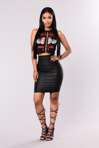Road Warrior Crop Top - Black