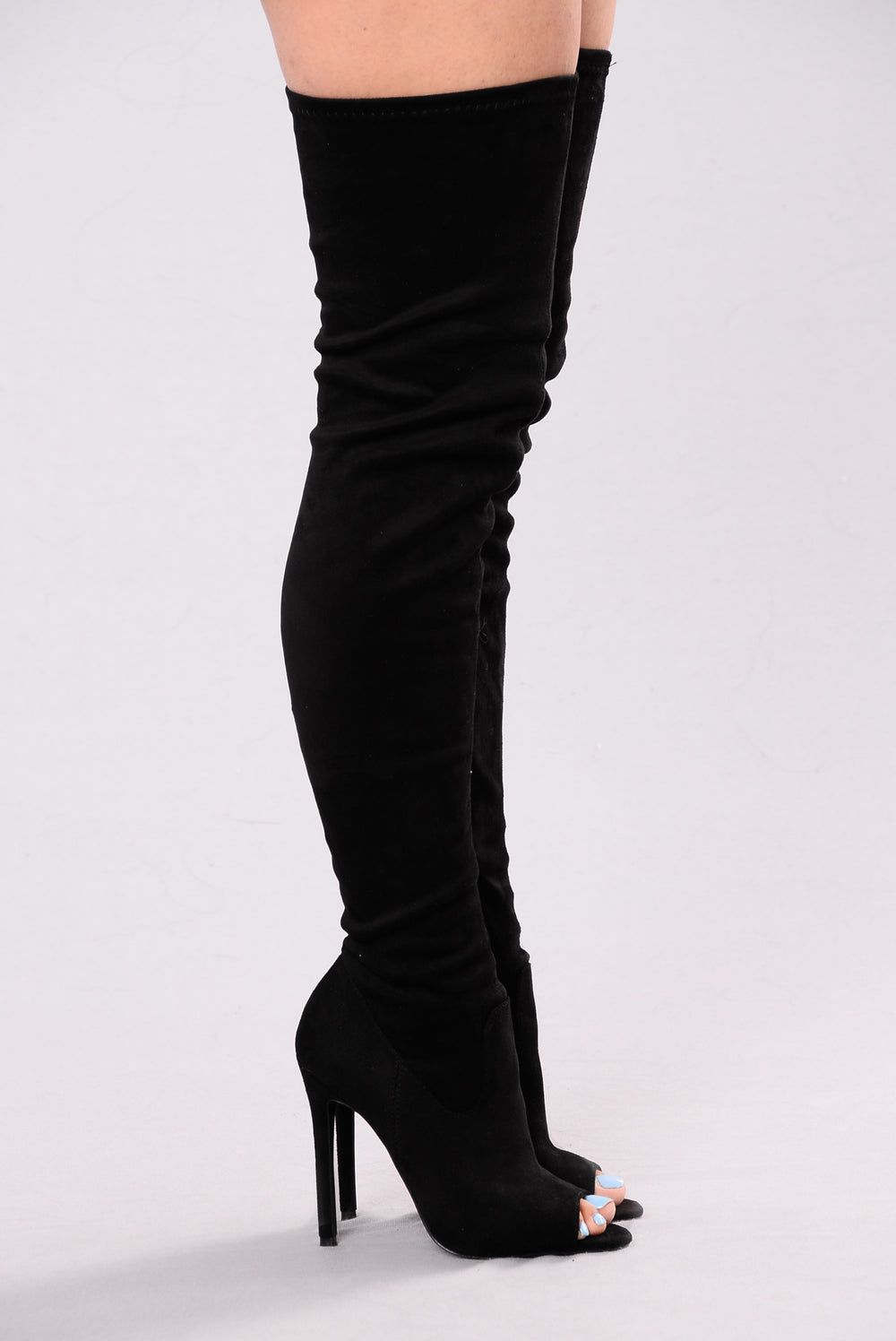 Looking For Fun Over The Knee Boot - Black