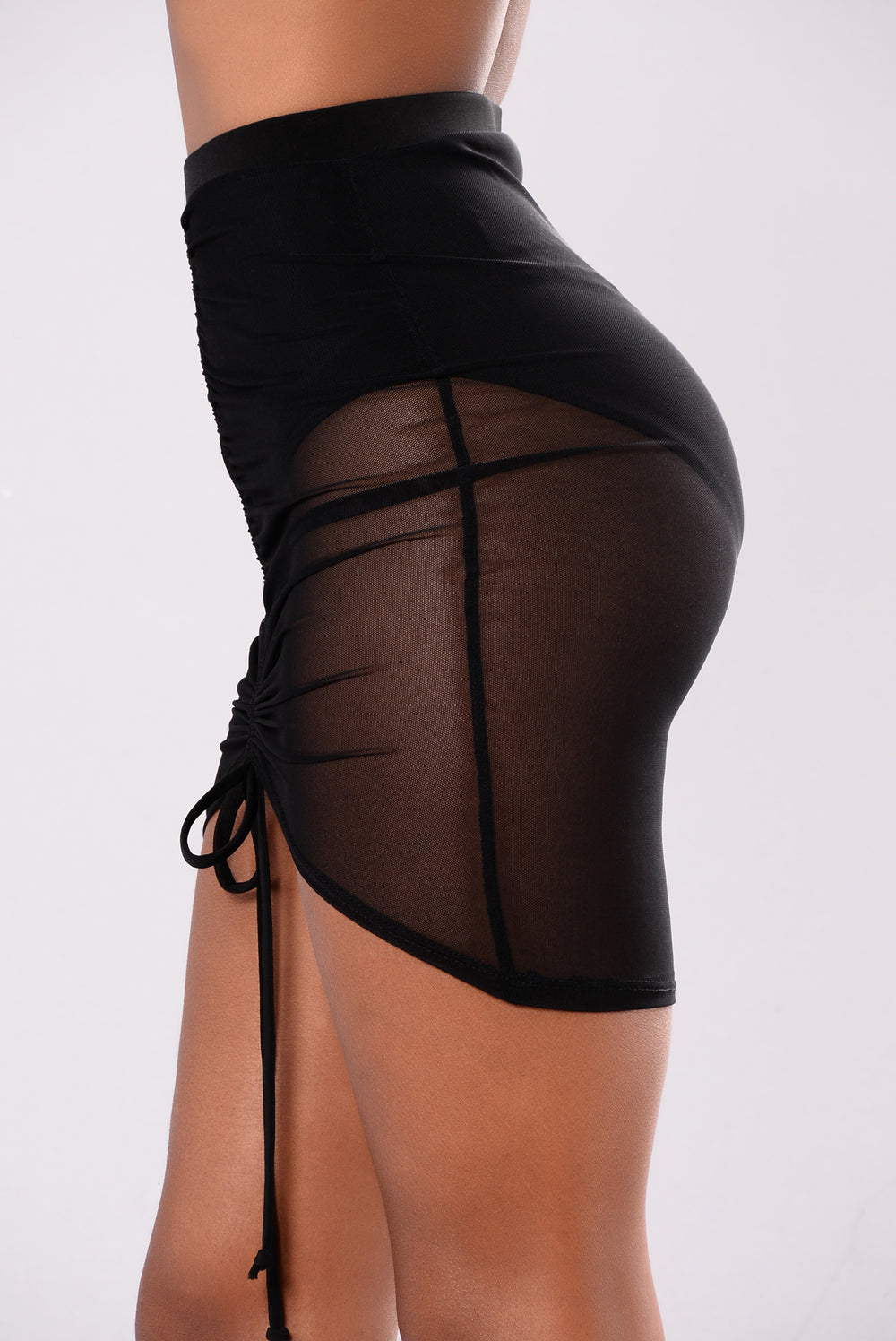 Marci Mesh Skirt - Black