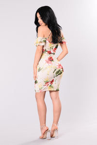 My Tropical Garden Dress - Ivory