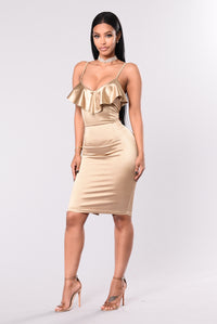 From This Moment Dress - Gold