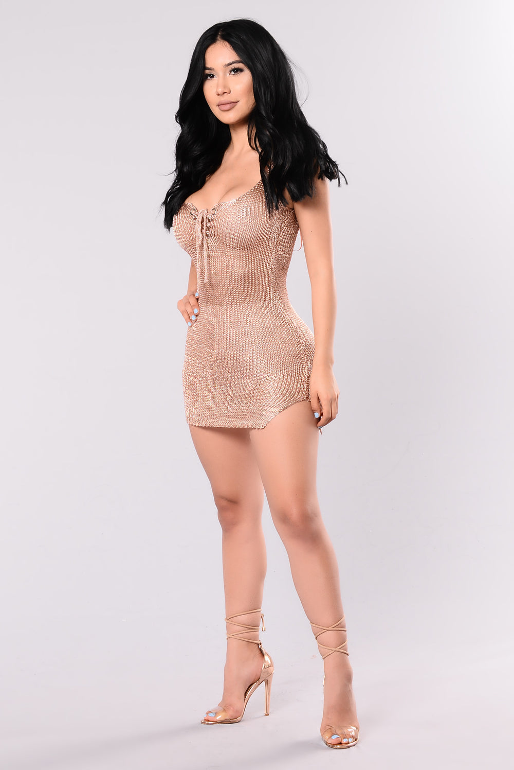 Shine Your Way Dress - Rose Gold