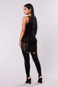 Just Right Bodysuit Dress - Black