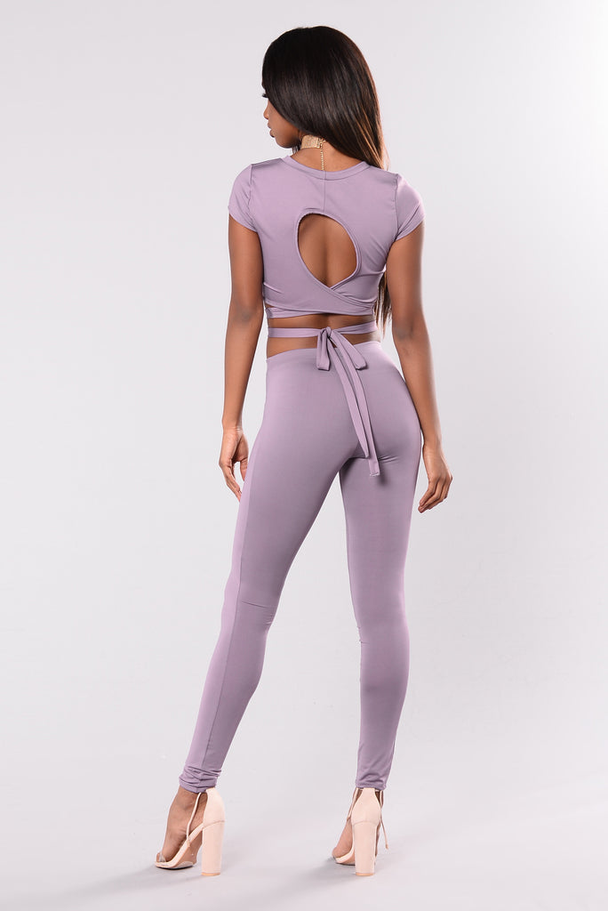 Where My Girls At? Leggings - Lavender