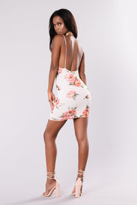 Darling Floral Dress - Ivory