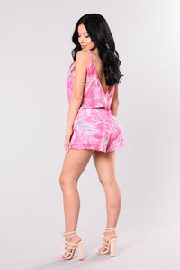 Island Adventures Rompers - Hot Pink