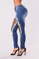 Ambrose Fishnet Jeans - Medium