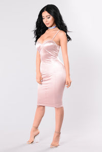 Rockin That Thing Dress - Dusty Pink