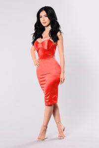 Rockin That Thing Dress - Candy Red Angle 4