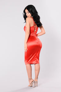 Rockin That Thing Dress - Candy Red Angle 5
