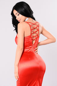 Rockin That Thing Dress - Candy Red Angle 3