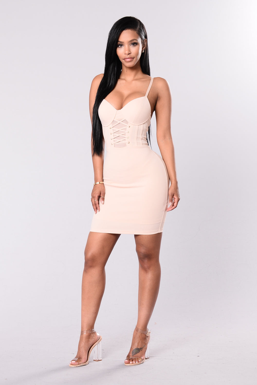 Feeling Sexy Dress - Nude-8807