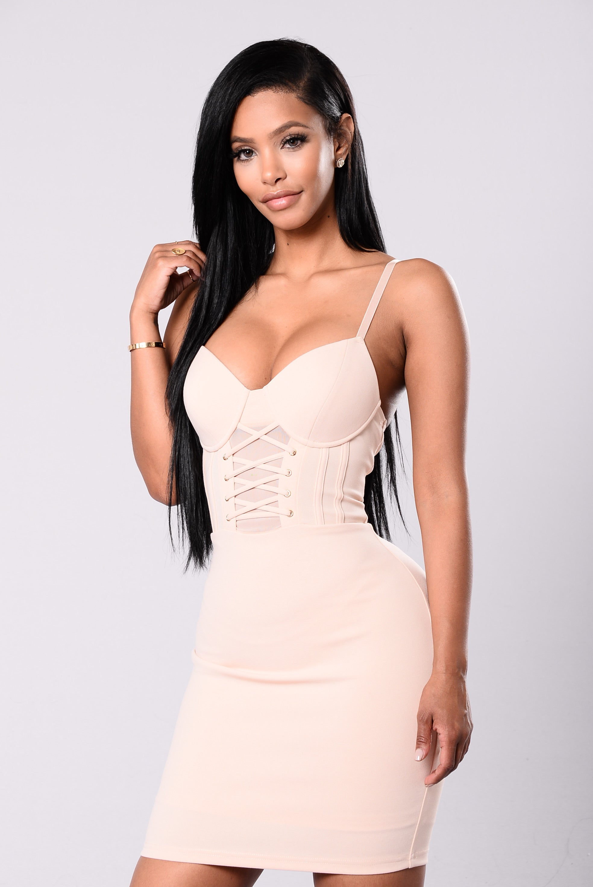 Feeling Sexy Dress - Nude-3424